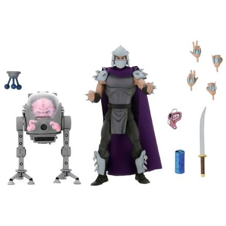 NECA TMNT '87 Shredder & Krang 2-Pack (Teenage Mutant Ninja Turtles)